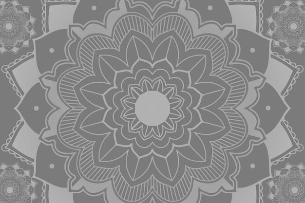 Padrões de mandala em fundo cinza