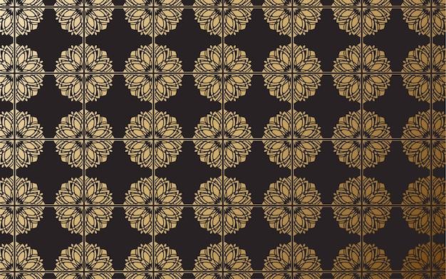 Padrões de ornamento geométrico de luxo