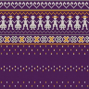 Padrões de tricô de camisola feia grandmas