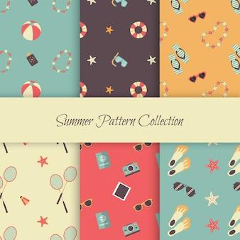 Padrões de verão com elementos do verão vintage