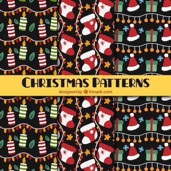 Padrões decoração do natal com elementos