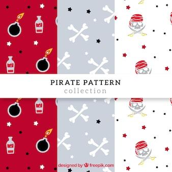 Padrões decorativos de pirataria