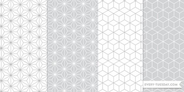 Padrões do photoshop sem costura geométricas