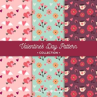 Padrões florais dos namorados