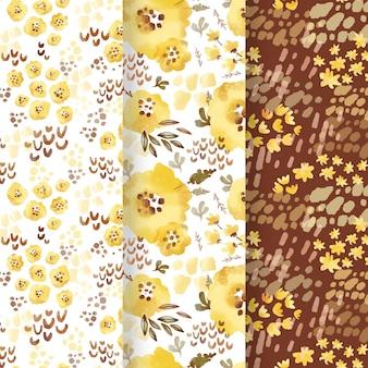 Padrões florais em aquarela abstratos