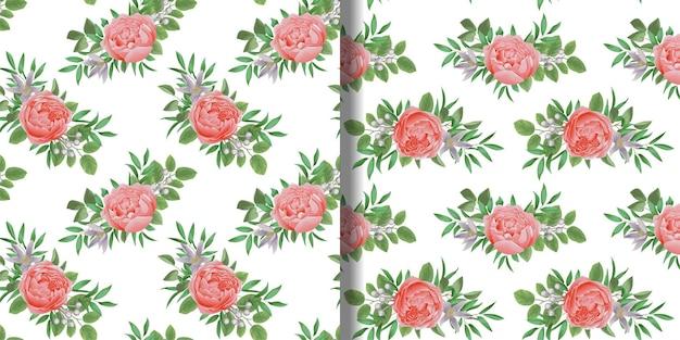 Padrões florais sem costura com flores e papel de parede botânico de hortaliças para estampas têxteis