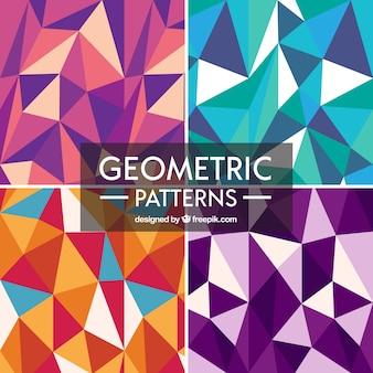 Padrões geométricos conjunto de cores