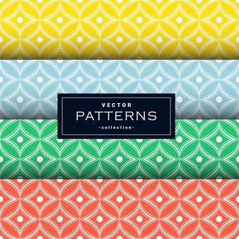 Padrões geométricos sem costura abstratos definidos em quatro cores. . papel de parede