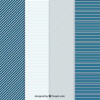 Padrões listrados em tons azuis