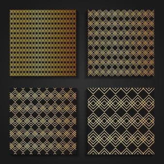 Padrões orientais de ouro simples.