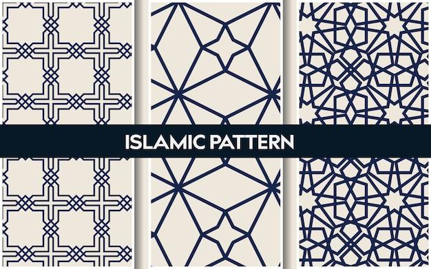 Padrões orientais islâmicos, sem costura padrão geométrico árabe
