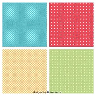 Padrões pontilhados em cores diferentes