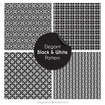 Padrões preto e branco elegante