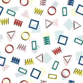 Padrões sem emenda de memphis. texturas de jumble abstratas.