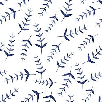 Padrões sem emenda de ornamento de folhas