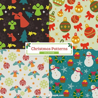 Padrões vintage do natal com elementos