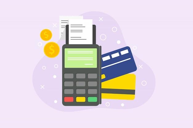 Pagamento com cartão de crédito do conceito para a página de destino