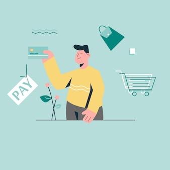 Pagamento com cartão de crédito para compras online