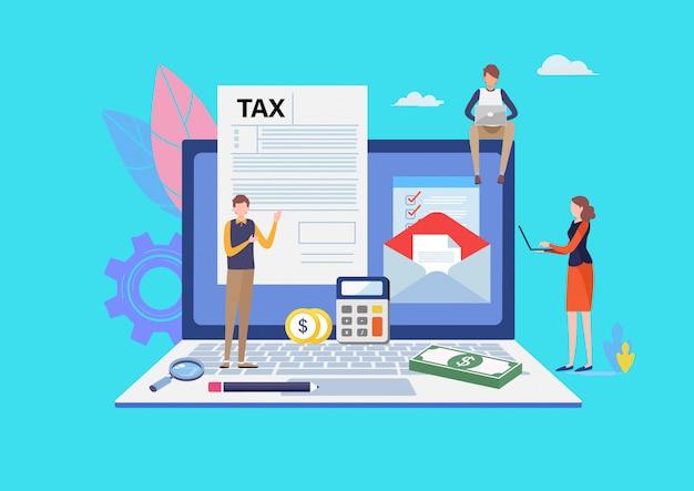 Pagamento de impostos online.