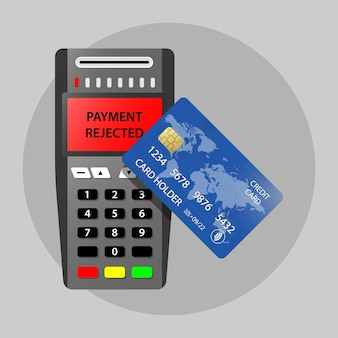 Pagamento de terminal de pagamento rejeitado pós-pagamento sem contato
