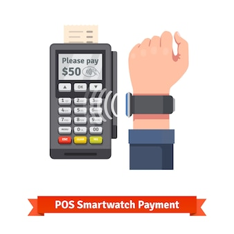 Pagamento do terminal pdv smart watch