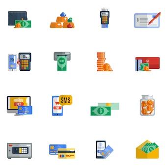 Pagamento icon flat