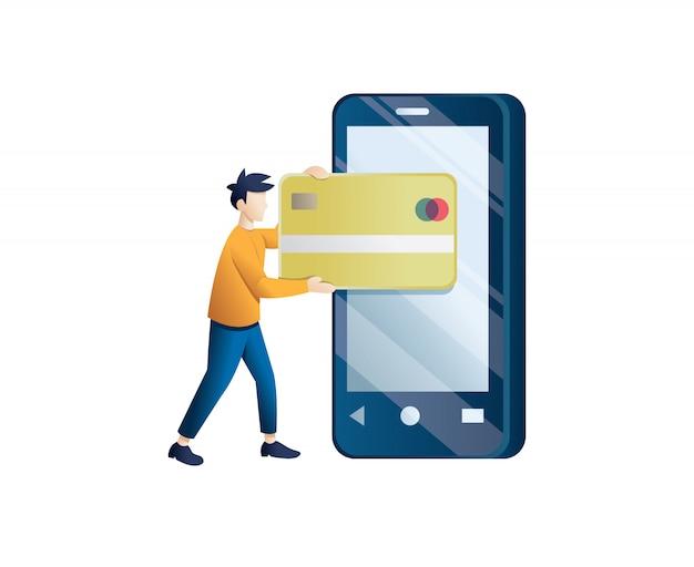 Pagamento móvel ou conceito de transferência de dinheiro