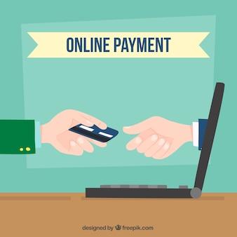 Pagamento on-line, computador