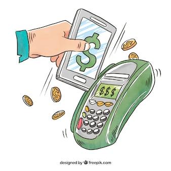 Pagamento online, celular