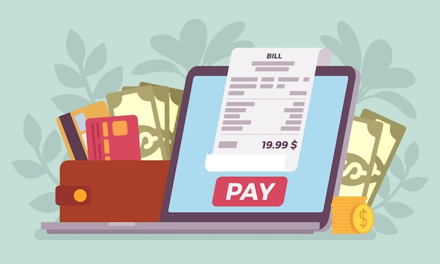 Pagamento online de contas digitais
