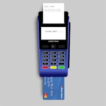 Pagamento por cartão de crédito usando terminal pos