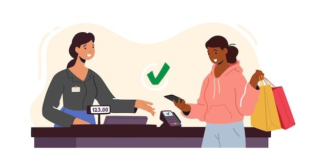 Pagamento sem contato com máquina de leitor de cartão de crédito
