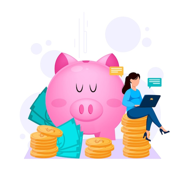 Pagamentos bancários online conceito financeiro