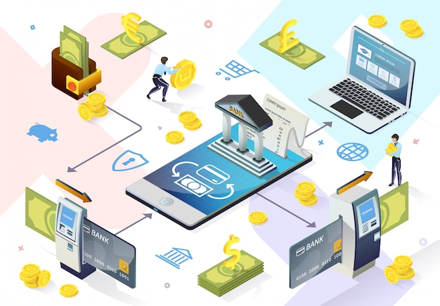 Pagamentos em linha do sistema bancário eletrônico