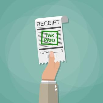 Pagando impostos conceito