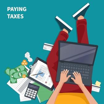 Pagando impostos