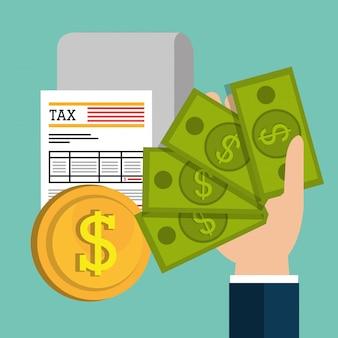 Pagar impostos gráficos