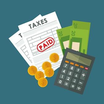 Pagar impostos tema de design gráfico