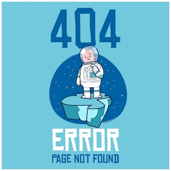 Página 404 não encontrada, uma ilustração de doodle desenhado à mão do problema de conexão com a internet.
