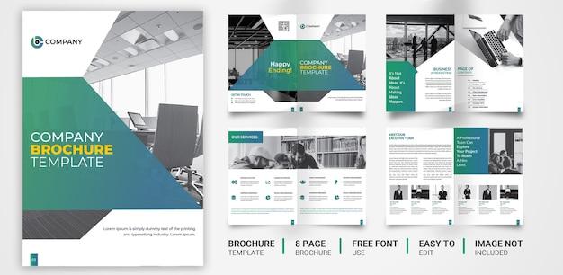 Página 8 de design de folheto corporativo multifuncional
