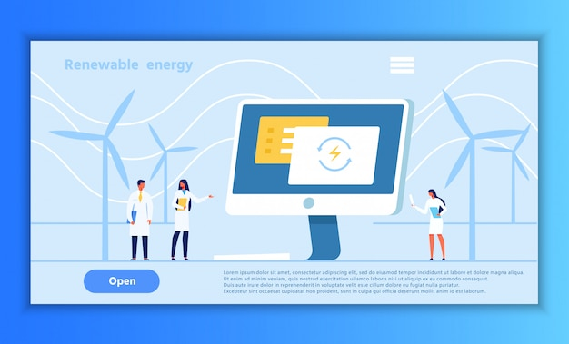 Página alternativa de apresentação de energia renovável