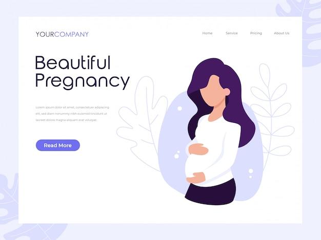 Página bonita da gravidez