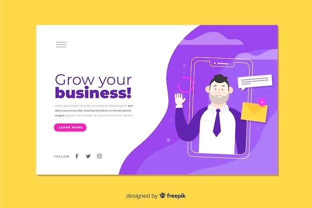Página corporativa de crescimento da sua empresa