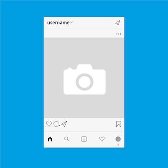 Página da rede social como fotos mensagens assinantes gráficos vetoriais