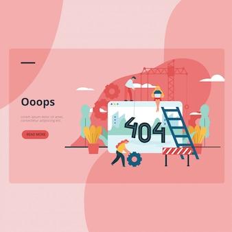 Página da web 404 erro indisponível