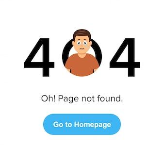 Página da web de erro 404.