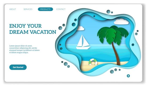 Página da web de férias.