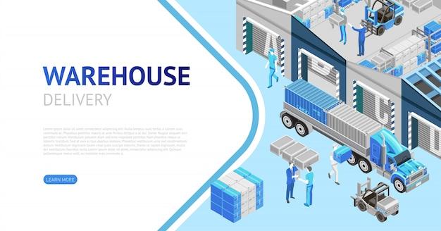 Página da web de informações de entrega do armazém