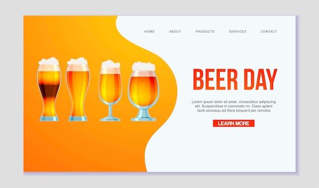 Página da web de todos os tipos de cerveja e cerveja.
