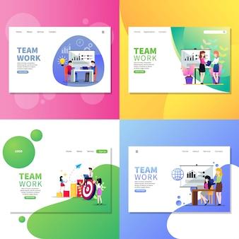 Página da web de trabalho em equipe